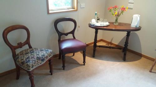 A seating area at Akaroa FyrneBrooke House