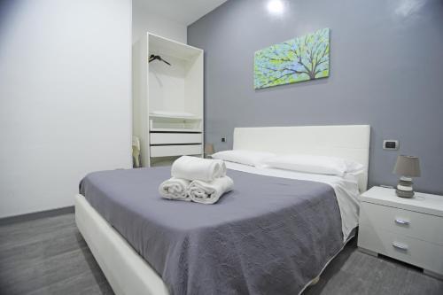 Cama o camas de una habitación en Villa Flora