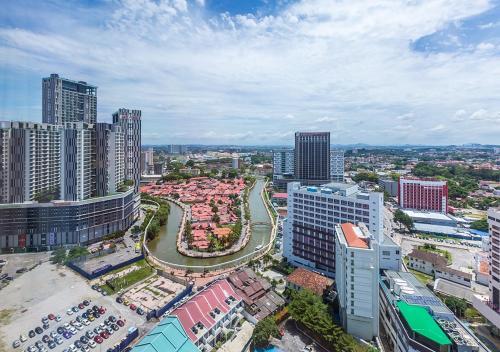 A bird's-eye view of Ramada Plaza by Wyndham Melaka