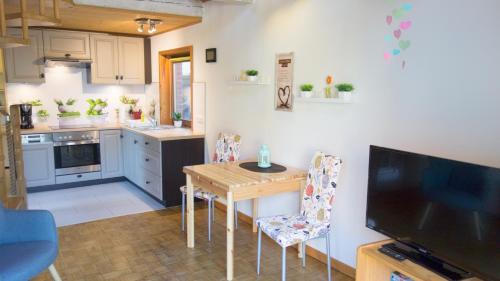 Küche/Küchenzeile in der Unterkunft Ferienhaus Elbtalaue