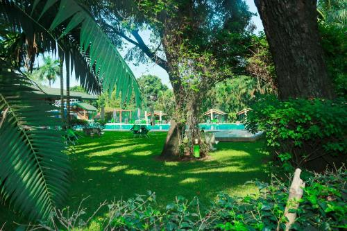 The swimming pool at or near Hotel Elais Kinshasa