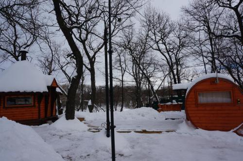 Turbaza Cherkasskiy zaton зимой