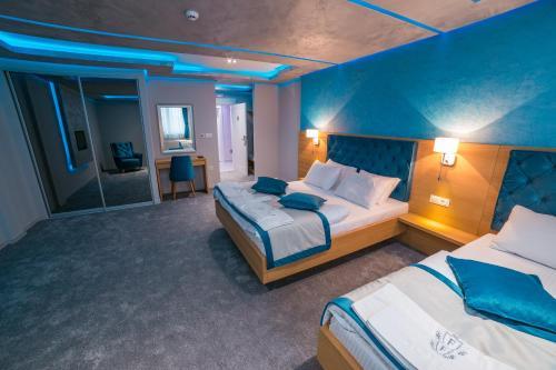 Krevet ili kreveti u jedinici u objektu Motel Felikitas