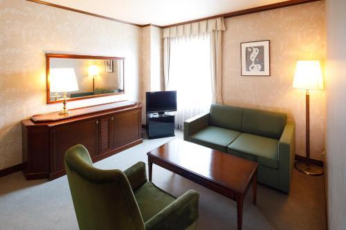 A seating area at Hotel Fujita Nara