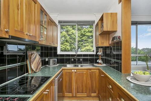 A kitchen or kitchenette at Leafy Apartment in Lane Cove - JANET