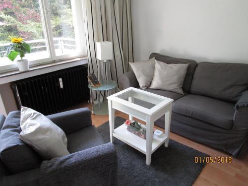 Ein Sitzbereich in der Unterkunft Studio Apartment Sonnenbühl