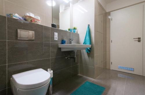 Koupelna v ubytování apartments in Karolina Plazza