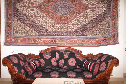 A seating area at Beit El Kroum Boutique Hotel