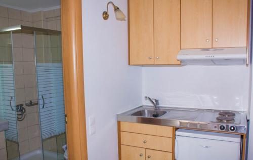 Η κουζίνα ή μικρή κουζίνα στο Sunshine Studios & Apartments