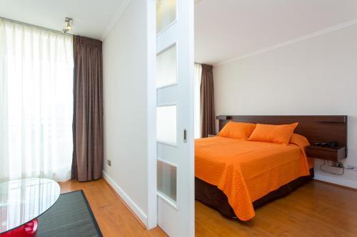 Cama ou camas em um quarto em City Inn Apart Home 2