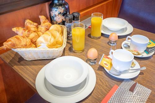 Ontbijt beschikbaar voor gasten van Hotel Milano