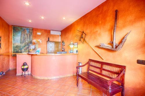 The lobby or reception area at Hotel Rural Sierra Tejeda