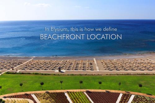 A bird's-eye view of Elysium Resort & Spa