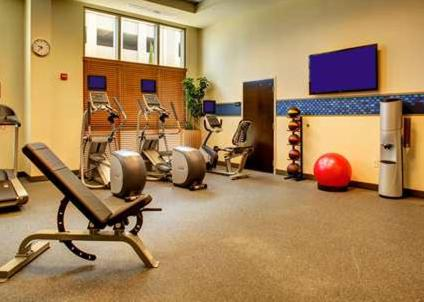 The fitness center and/or fitness facilities at Hampton Inn & Suites Baton Rouge Downtown