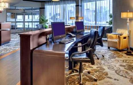 The business area and/or conference room at Hampton Inn & Suites Baton Rouge Downtown