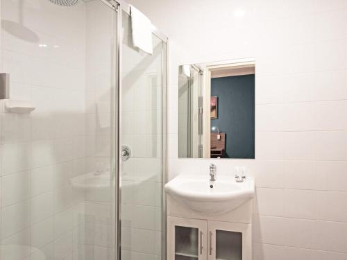 A bathroom at 28 Hotel