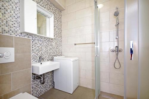Koupelna v ubytování Villa Rubcic