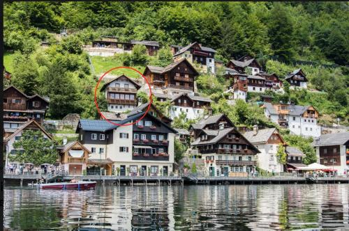 A bird's-eye view of Hallstatt Lake View House