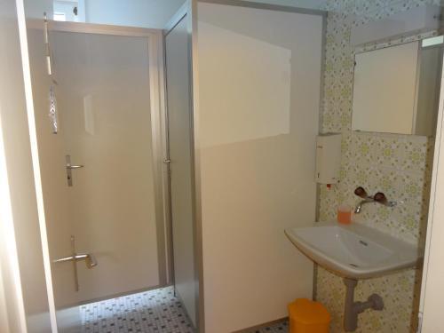 Ein Badezimmer in der Unterkunft Burgbühl