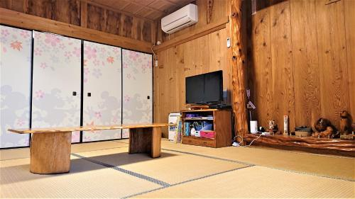 A television and/or entertainment center at Yakusugi House