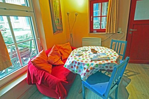 Ein Sitzbereich in der Unterkunft Hainich-Zeit