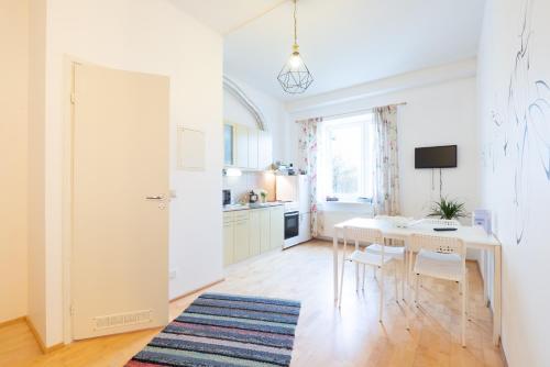 Köök või kööginurk majutusasutuses Mereranna Apartments