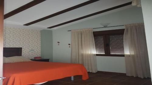 Cama o camas de una habitación en Habitación en Finca Rural el Estanque