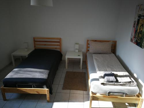 Ein Bett oder Betten in einem Zimmer der Unterkunft Casa Carmela