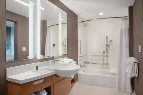 A bathroom at TownePlace Suites by Marriott Orlando Theme Parks/Lake Buena Vista