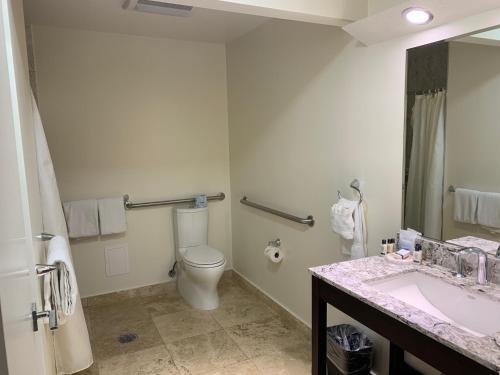 A bathroom at Munras Inn