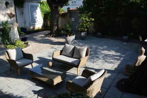 Terrasse ou espace extérieur de l'établissement Le Clos Bleu-La Rochelle