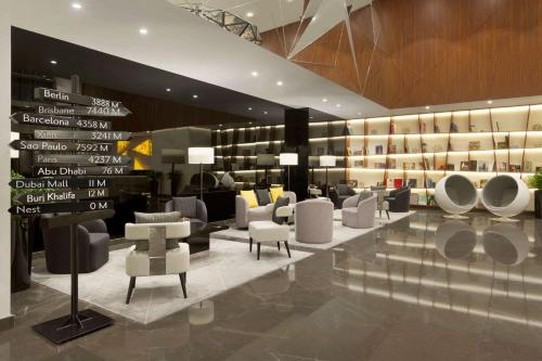 The lounge or bar area at TRYP by Wyndham Dubai