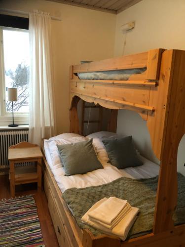 A bunk bed or bunk beds in a room at Wasa Fjällgård