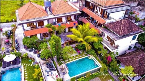 A bird's-eye view of Puji Hostel and Bungalow Ubud