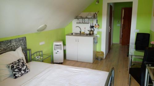A kitchen or kitchenette at Apartments U Kašny