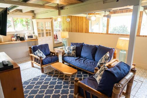 A seating area at Waipi'o Lodge