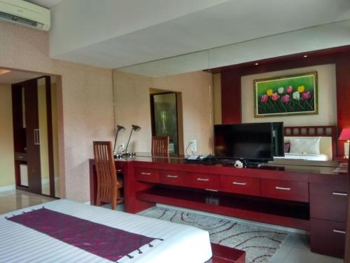A television and/or entertainment centre at D'Kubu Legian