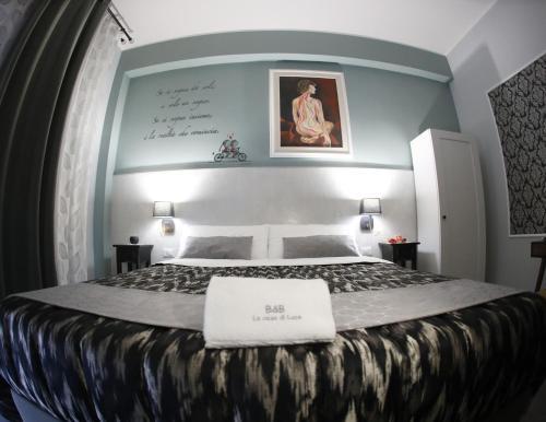 Letto o letti in una camera di La casa di Luce