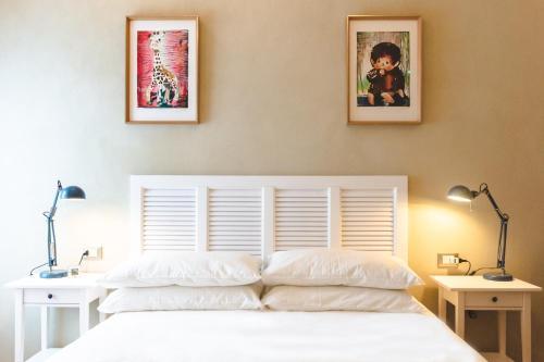 Letto o letti in una camera di Casetta Portonaccio