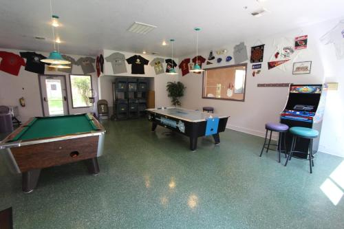 A pool table at Sedona Springs Resort, a VRI resort