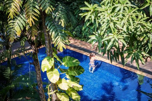 A view of the pool at Villa Langka Hotel & Restaurant or nearby