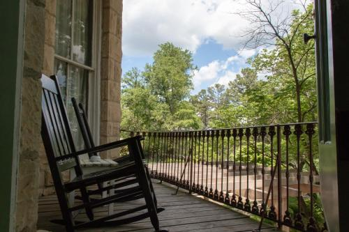 A balcony or terrace at 1886 Crescent Hotel and Spa