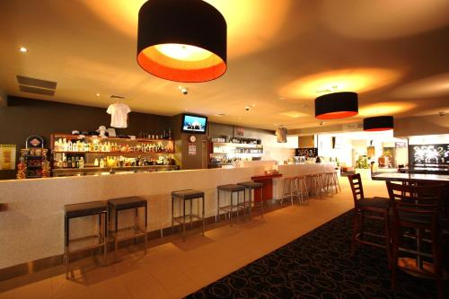The lounge or bar area at Peden's Hotel