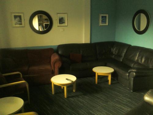A seating area at YHA Littlehampton