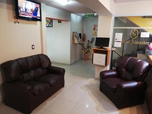 Un lugar para sentarse en Hotel Alexander
