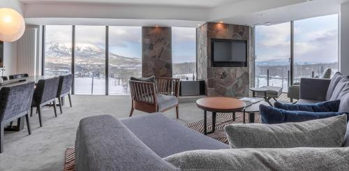 A seating area at The Vale Niseko