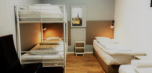 A bunk bed or bunk beds in a room at Mosebacke Hostel