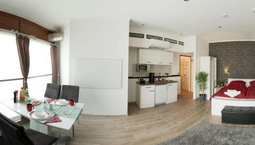 Küche/Küchenzeile in der Unterkunft Csery