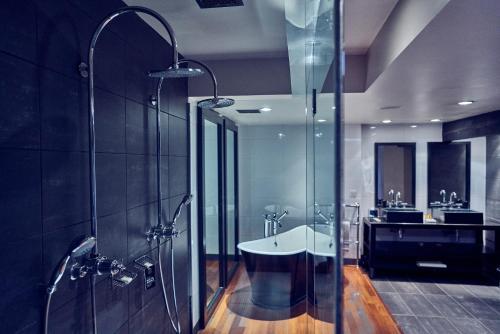 A bathroom at Malmaison Belfast