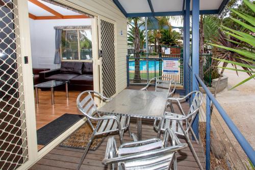 A balcony or terrace at Torquay Holiday Park